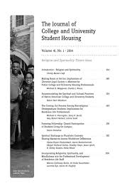 The Journal of College and University Student Housing - Volume 40, No. 2 &  Volume 41, No. 1