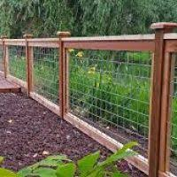 Image Result For Hog Wire Fence Design Diy Garden Fence Hog Wire Fence Fence Design