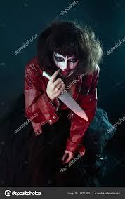 cute clown makeup tutorial model with