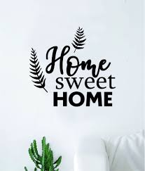 Home Sweet Home V2 Quote Wall Decal Home Decor Bedroom Room Art Sticke Boop Decals