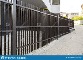 Wooden Fence On A Metal Frame Stock Image Image Of Natural Plank 181317905