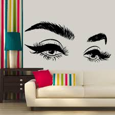 2020 New Arrivels Beautiful Eyelashes Eye Vinyl Wall Sticker Decal Modern Home Decor Art Salon Girls Eyes Eyebrows Wall Decals Vinyl Decals Walls Vinyl For Wall Decals From Onlinegame 11 04 Dhgate Com