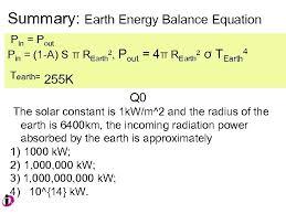 an improved energy balance model