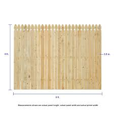 Severe Weather 6 Ft H X 8 Ft W Pressure Treated Pine Gothic Fence Panel In The Wood Fence Panels Department At Lowes Com