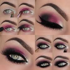 dark red violet eye makeup tutorial