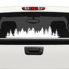 Large Forest Treeline Custom Car Truck Van Window Or Bumper Etsy