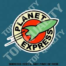 Planet Express Futurama Decal Sticker For Bar Bumper Sticker Car Truck Stickers Truck Stickers Bumper Stickers Car Bumper Stickers