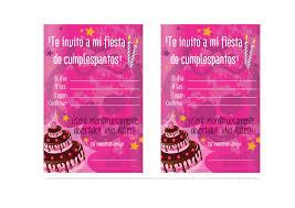 Invitaciones Cumpleanos Gratis Para Imprimir Para Fondo De