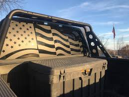Waving American Flag Back Window Decal Patriot99