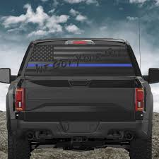 We Got Your Six Thin Red Blue Or Green Line Back Window Decal Patriot99
