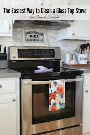 how to clean a glass top stove clean