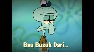 sad squidward bahasa
