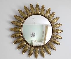 vintage wall convex sunburst mirror