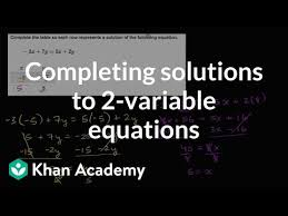 solutions to 2 variable equations