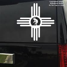 Simple Zia Kokopelli New Mexico Nm State Flag Emblem Sign Sticker Decal Ebay