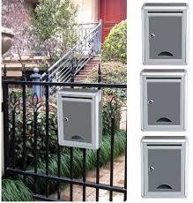 Metal Mailbox Outdoor Security Locking Mailbox Letter Box Mail Letter Post Garden Decor Mailbox Lazada Ph
