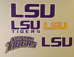 Lsu Tigers Ncaa Fathead Team Logo Graphic Banner Decal Lot 4 From 10 To 19 Ebay