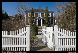 Picture Photo White Picket Fence And House Provincetown Cape Cod Massachussets Usa