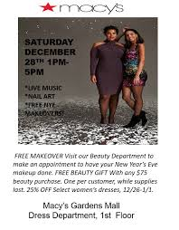 macy s nye glam event the gardens mall