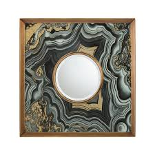 contemporary beveled accent mirror