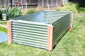 corrugated raised garden bed