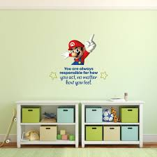 Design With Vinyl How You Feel Super Mario Life Cartoon Quotes Wall Decal Wayfair