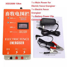Dc 12v Xsd280b 10km Solar Electric Fence Energizer Charger High Voltage Pulse Controller Animal Poultry Farm Electric Fencing Shepherd Lazada