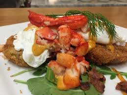 Poached Eggs, Panko Crusted Fried Green ...
