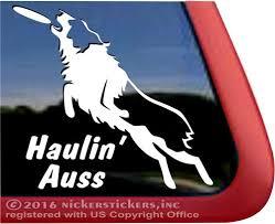 Aussie Disc Dog Decals Stickers Nickerstickers