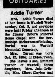 Obituary for Turner - Newspapers.com