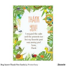 Bug Insect Thank You Cards Zazzle Com Invitaciones Insectos Y