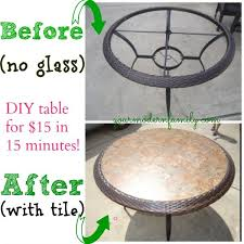 replace glass tabletop for a tile one