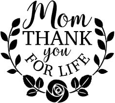 Amazon Com Jb Print Mom Thank You For Life Vinyl Decal Sticker Car Waterproof Car Decal Bumper Sticker 5 Automotive