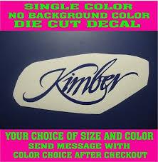 Kimber Firearms Pistol Die Cut Vinyl Decal Car Truck Window Safe Sticker Ebay