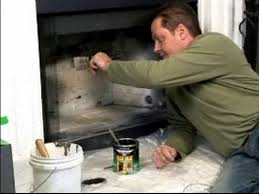 fireplace cleaning painting a
