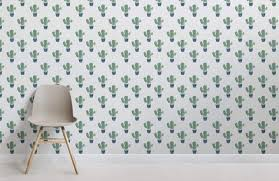 Cactus Pattern Wallpaper Muralswallpaper