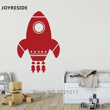 Joyreside Rocket Little Pattern Wall Sticker Space Ship Wall Decals Home Baby Kids Room Wall Decoration Vinyl Design Decal Wm387 Wall Stickers Aliexpress