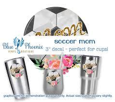 Soccer Mom Color Cup Decal Blue Phoenix Vinyl Boutique