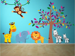 Party Animals Jungle Nursery Wall Decals Jungle Wall Decals Kids Wall Decals Nursery Wall Decals