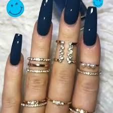 coffin shape acrylic nails nail