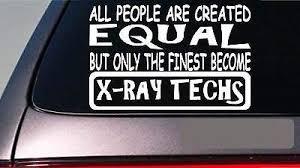 Amazon Com Brandvinyl X Ray Techs All People Equal 6 Sticker X Ray Xray Film Er Hospital Dr Home Kitchen