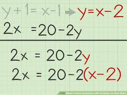 solve an equation with two variables