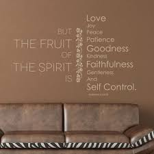 Galatians 5 22 23 Scripture Wall Decal The Fruit Love Joy Peace