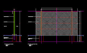 Cad Details Fencing 2 4m High Diamond Mesh Perimeter Security Fence 2