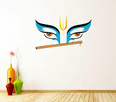 Lord Krishna Wall Vinyl Sticker Decal Decor Bedroom Drawing Room Fac 1193 For Sale Online Ebay