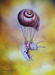 Escargot volant 2 Peinture par Jérémy Piquet | Artmajeur