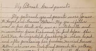 An Account of the Grandparents of Hilda Hayes Satterfield   Pittwire    University of Pittsburgh