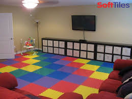 Wall To Wall Foam Mats Rainbow Colored Playroom Living Room Using Softtiles 2x2 D105 Blue And Green Living Room Living Room Green Playroom