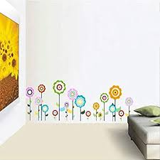 Amazon Com Wall Sticker Color Flower Children S Room Parlor Bedroom Lollipop Decals Wallpaper Decoration Home Decor Sports Outdoors