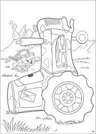 Kids N Fun Kleurplaat Cars Pixar De Tractors Vallen Omver
